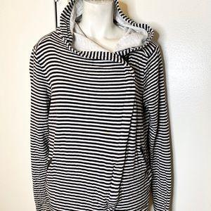 Mondetta Black White Stripe Hoodie Jacket M